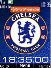 SWF clock Chelsea theme screenshot