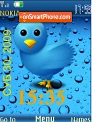 SWF bird clock $ rus date theme screenshot