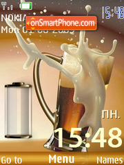 Beer clock battery theme screenshot