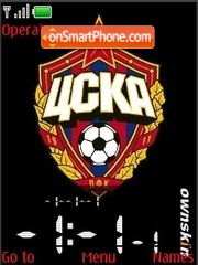 SWF clock and date PFC CSKA Moskow theme screenshot
