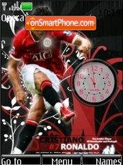 SWF clock C. Ronaldo theme screenshot