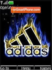 SWF clock Adidas theme screenshot