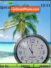 SWF clock Tropics theme screenshot