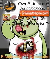 Animated Zombie theme screenshot