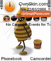 Animated bee es el tema de pantalla