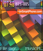 Spectrum Blocks theme screenshot