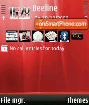 Aurora Red theme screenshot