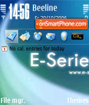 E-Series D3 theme screenshot