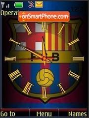 Скриншот темы SWF clock Barcelona