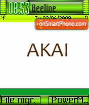 Akai theme screenshot