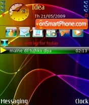 Neon Bands theme screenshot