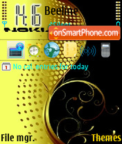Nokia Yellow tema screenshot