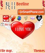 My love theme screenshot
