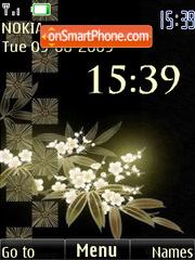 SWF clock flowers anim theme screenshot