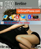 Dannii Minogue theme screenshot