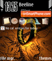 The One Ring theme screenshot