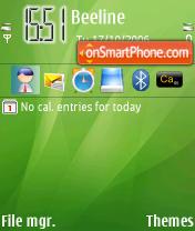 Скриншот темы Green