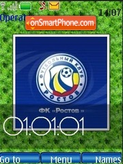 F.C. Rostov (SWF clock) theme screenshot
