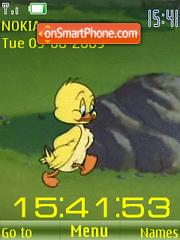 Скриншот темы SWF happy duckling anim