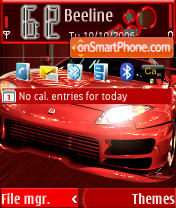 Red Car theme screenshot