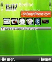 Скриншот темы Aurora Green