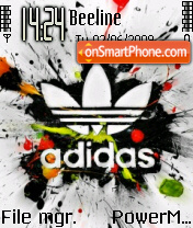 Adidas 33 tema screenshot