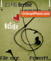 Musika es el tema de pantalla