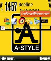 Скриншот темы A-Style