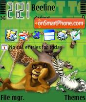 Скриншот темы Medagaskar