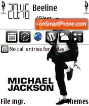 Скриншот темы Michael Jackson