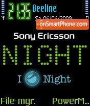 Sony Night es el tema de pantalla