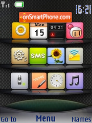Glossy Carbon Iphone theme screenshot