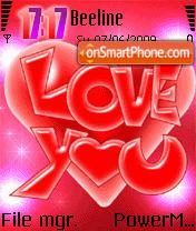 Love You 09 es el tema de pantalla