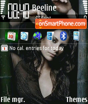 Скриншот темы Evangeline Lilly