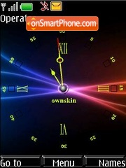 Black Clock (SWF clock) theme screenshot