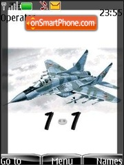 Mig 29 (SWF clock) theme screenshot