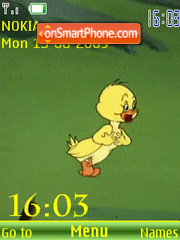 Скриншот темы SWF happy duckling anim v.2