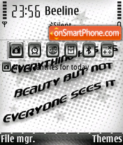Beauty Qoute theme screenshot
