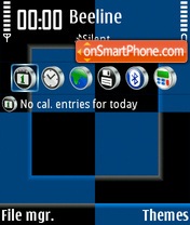 Black & Blue tema screenshot
