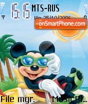 Mickey Sunset es el tema de pantalla