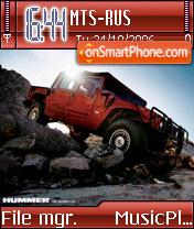 Red Hummer theme screenshot