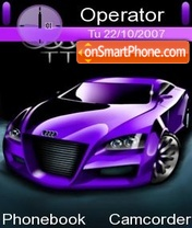 Audi Purple tema screenshot