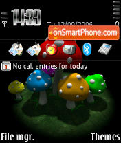 Fly Agaric Black Nokia 3250 theme screenshot