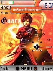 Gaara Clock SWF tema screenshot