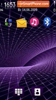 Violet Fractal theme screenshot