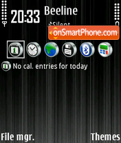 Black 09 theme screenshot