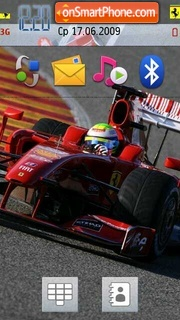 Ferrari F60 (F2009) theme screenshot