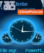 Anime Clock theme screenshot