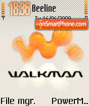 Walkman 10 tema screenshot