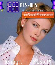 Charlize Theron 4 theme screenshot